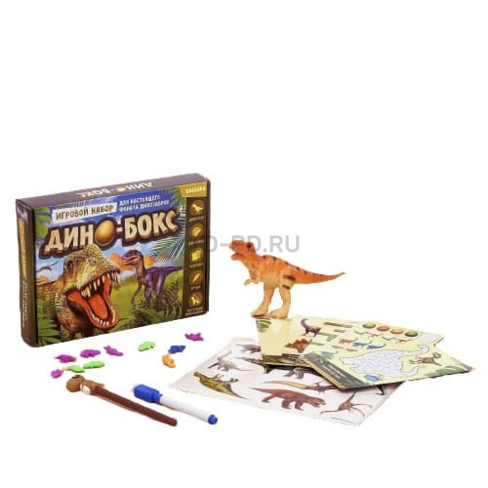 Игровой набор с динозаврами «Дино-бокс», по методике Монтессори