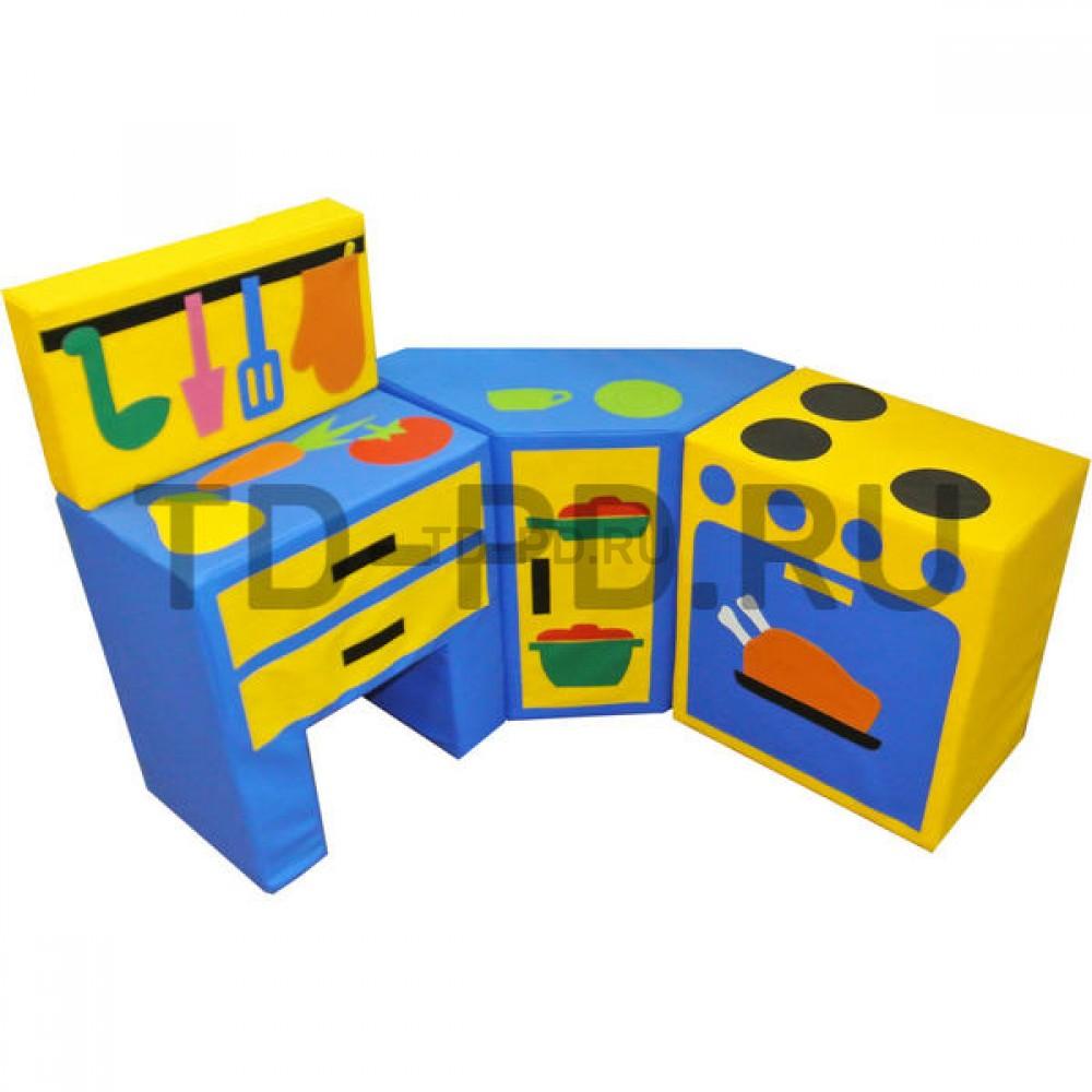 Набор мягких модулей «Кухня угловая модульная», 4 предметов (с плитой и стол с 2-мя ящиками)