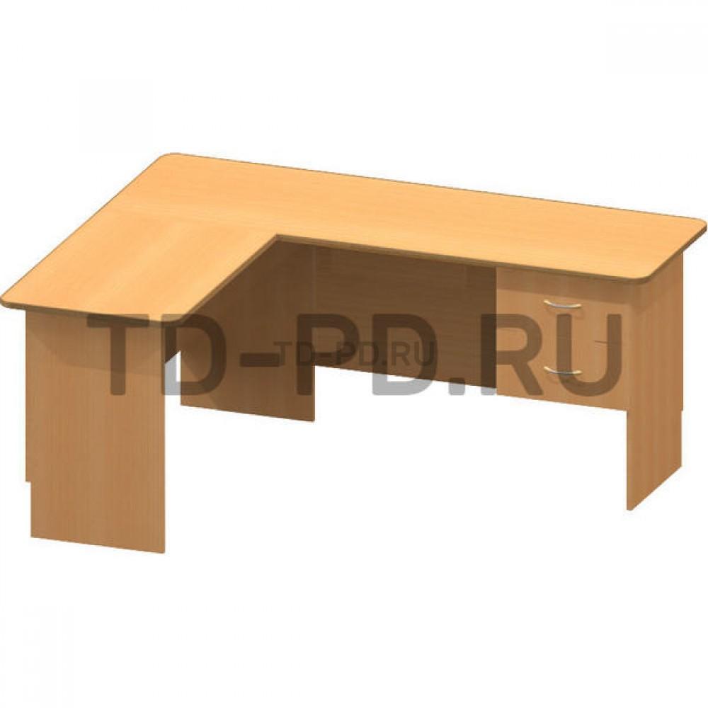Стол офисный угловой (без панели для клавиатуры)
