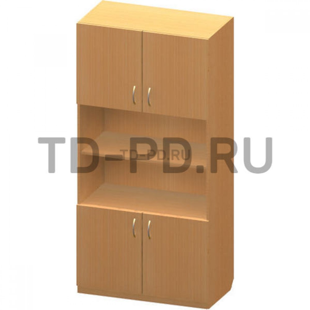 Шкаф 2-х створ. с 2-мя нишами