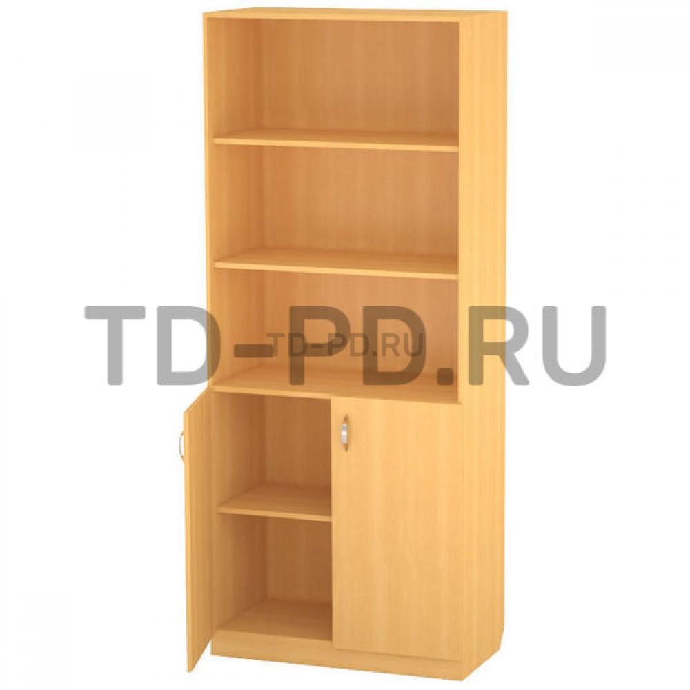 Шкаф 2-х ств. с полками низ закрыт