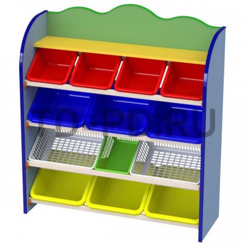 Многофункциональный стеллаж с контейнерами