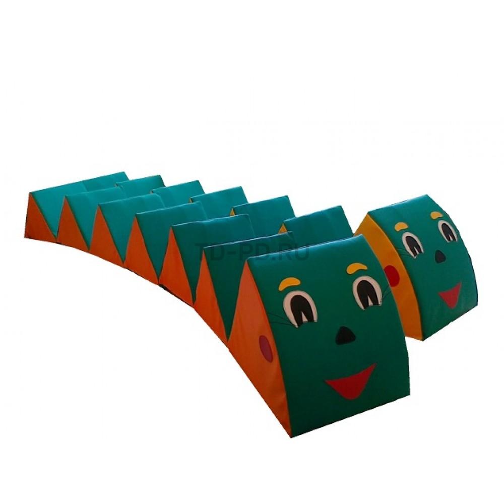 Детский игровой набор мягких модулей «Гусеница»