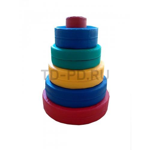 Детский игровой набор мягких модулей «Пирамида»
