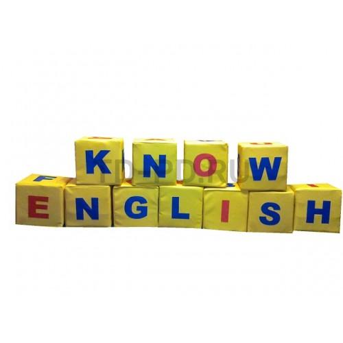 Игровой познавательный набор мягких модулей «Английский язык»