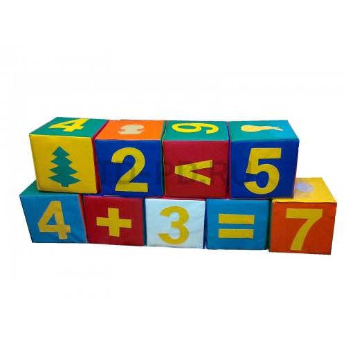 Игровой познавательный набор мягких модулей «Учимся считать»