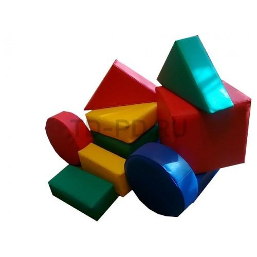 Мягкий модульный Конструктор «Юный строитель»  (10 предметов)
