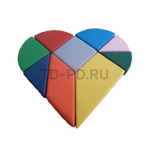 Мозаика из мягких модулей «Сердце»