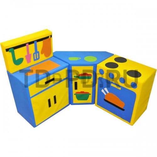 Набор мягких модулей «Кухня угловая модульная», 4 предметов (с плитой и разделочным столом)