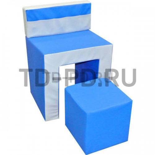 Мягкий модуль «Стол с пуфом»