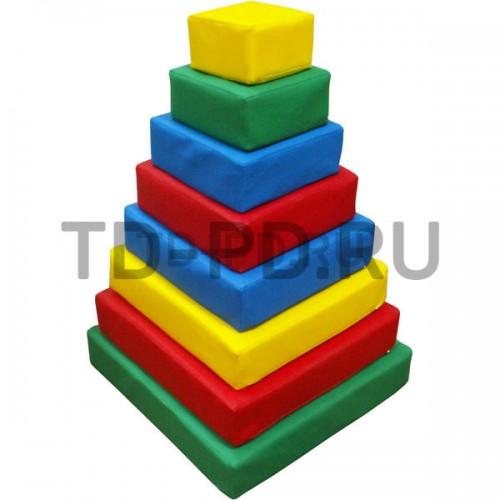 Пирамида квадратная, 8 деталей