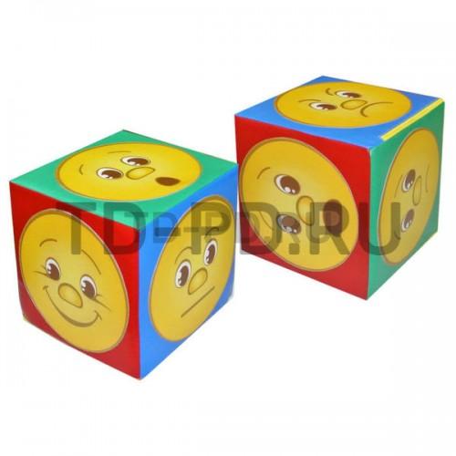 Куб дидактический «Эмоции», серый