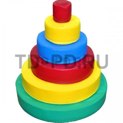 Пирамида круглая, 6 деталей
