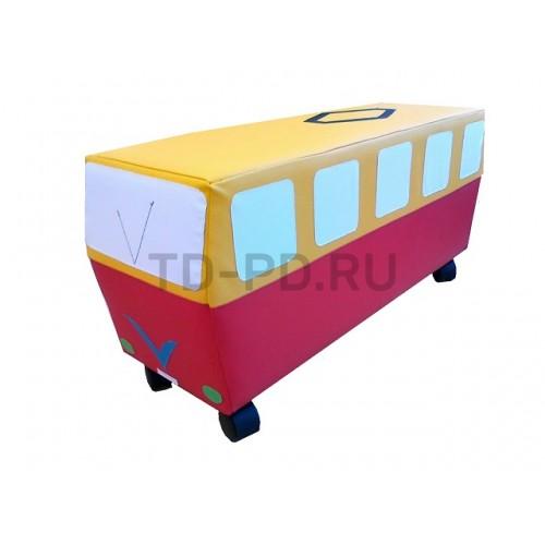 """Мягкий модуль Машина на колесах """"Трамвай"""""""