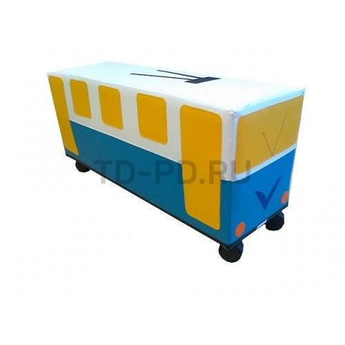 """Мягкий модуль Машина на колесах """"Троллейбус"""""""