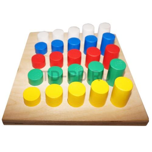 Сортировщик - Цвет и высота  25 элементов