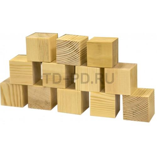 Деревянный кубик неокрашенный 4х4 см
