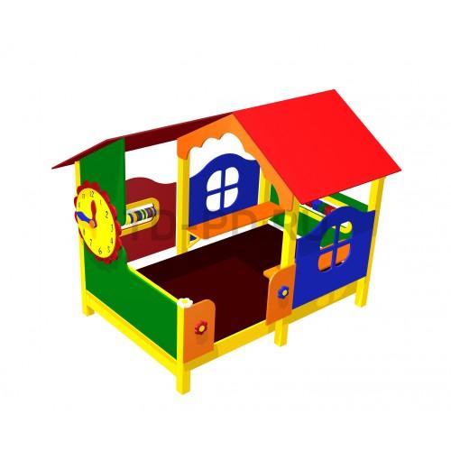 Игровой домик «Домик с часами»