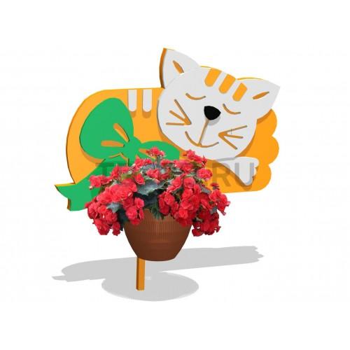 Декор для клумбы «Котик»