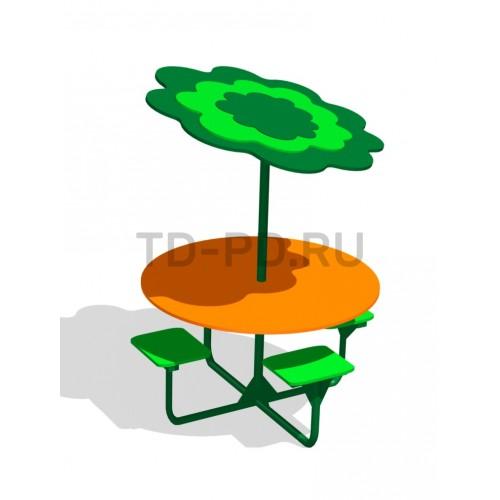 Стол детский с теневым навесом «Под деревом»