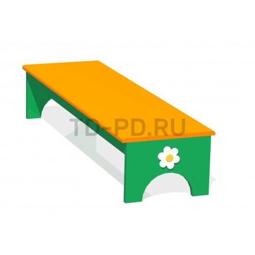 Скамейка двухсторонняя «Цветик»