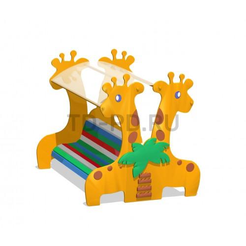 Скамейка двухсторонняя с теневым навесом «Жирафы»