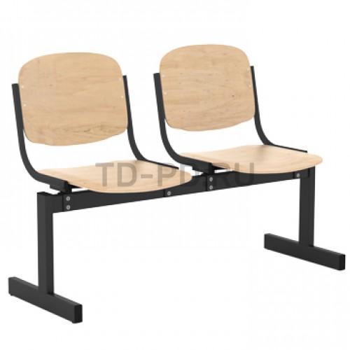 Блок стульев 2-местный, жесткий, не откидывающиеся сиденья