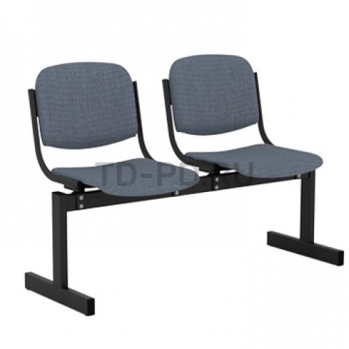 Блок стульев 2-местный, мягкий, не откидывающиеся сиденья