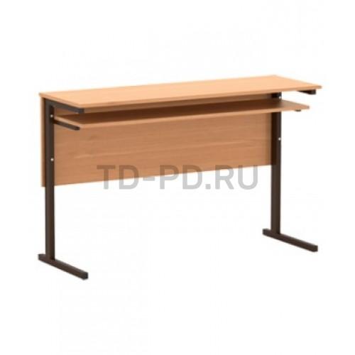 Стол 2-местный, меламин, прямоугольная труба