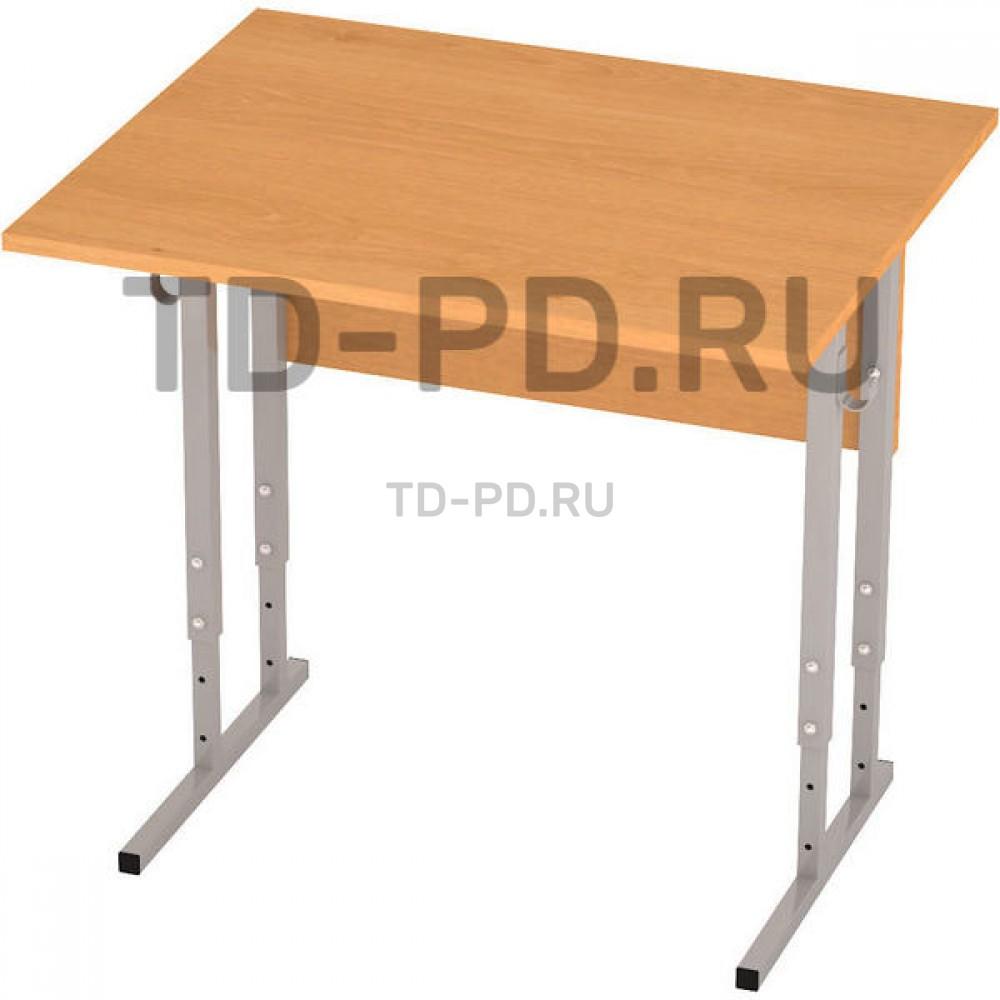 Стол ученический 1-местный регулируемый ЛДСП, 3-4-5 гр.
