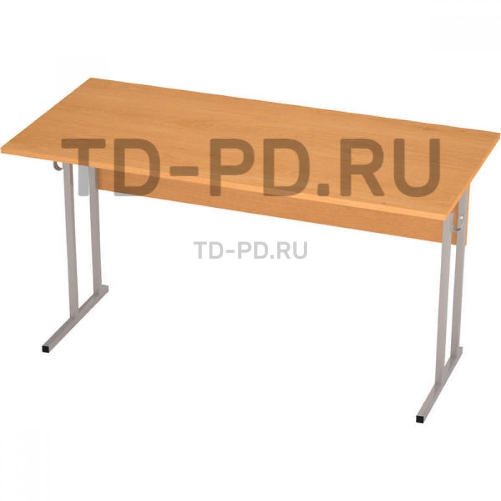 Стол ученический 2-местный ЛДСП 6 гр., квадратная труба (Н=76 см)