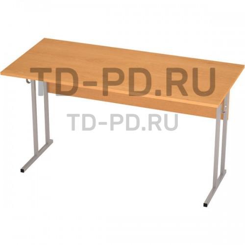 Стол ученический 2-местный ЛДСП 2 гр., квадратная труба (Н=52 см)