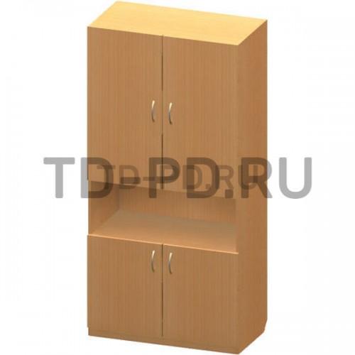 Шкаф 2-х ств. с нишей
