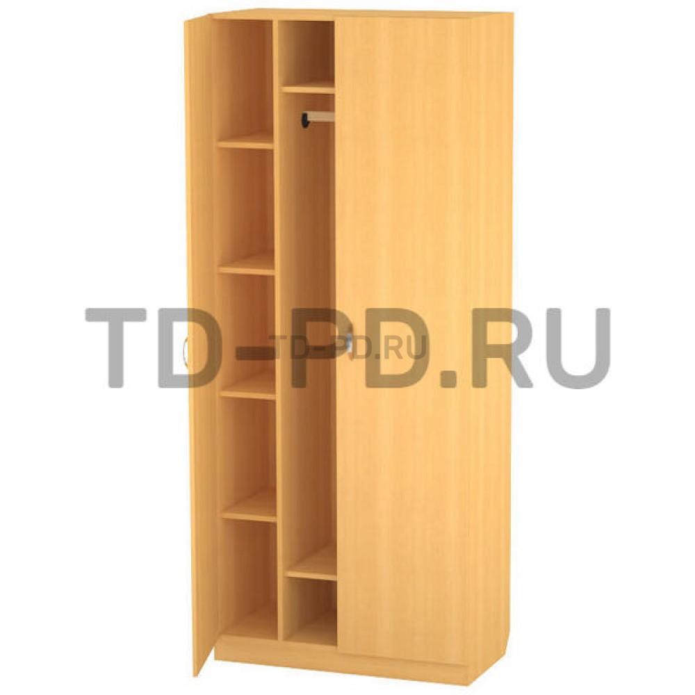 Шкаф 2-х ств. платяной с полками