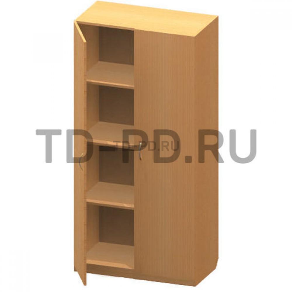 Шкаф 2-х ств. с полками  с замком
