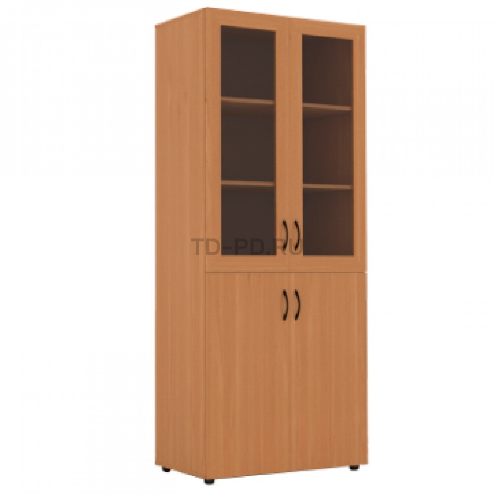 Шкаф широкий со стеклом