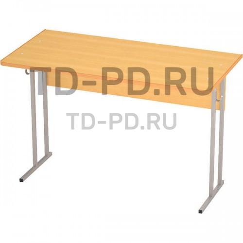 Стол ученический лабораторный 2-местный, с розетками, ЛДСП 6 гр.