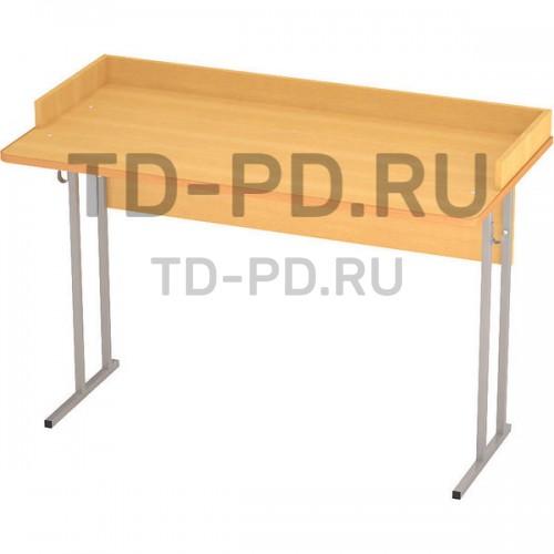 Стол ученический лабораторный с бортиком 2- местный, с розетками, ЛДСП 6 гр.